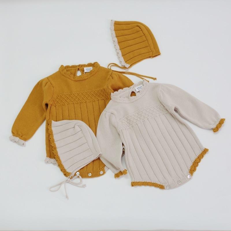 Весна детские хлопчатобумажные мягкие вязание норки шерстяные розыгрыши одежда сумка пердеть ребенка девочка рождественская одежда новая одежда новая детская одежда Y1221