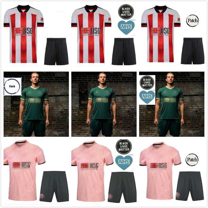 20 21 Sheffield Futbol Formaları Berge Mousset Birleşik 2020 2021 McBurnie Lundstram Fleck Futbol Gömlek Norwood Keskin Erkek Çocuk Kiti Üniforma
