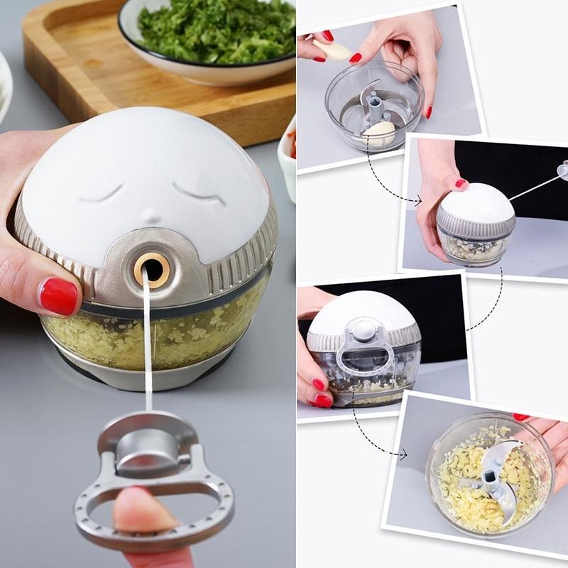 Mini agitador de ajo manual Hogar Pequeño Jengibre Ajo Pimienta Trituradora Mano Garlic Ajo Artefacto Herramientas de cocina T200416