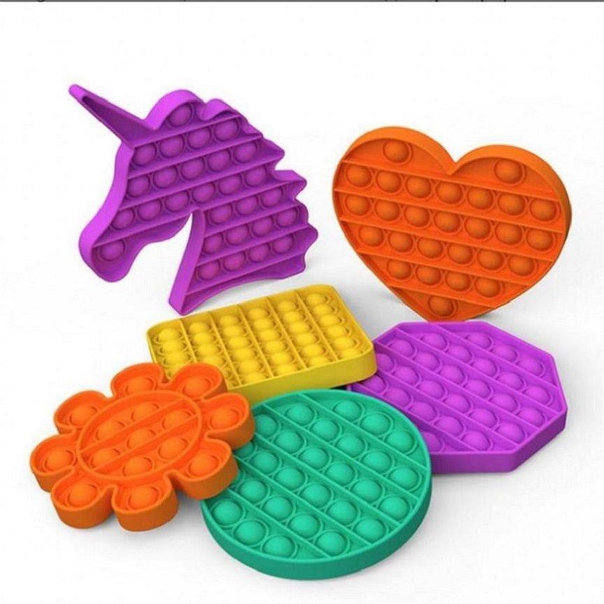 Push Pop Fidget Toy Sensory Push Pop Bubble Sensory Toy Pop It Fidget Toy Autism Special Needs Anxiety Stress Reliever for Adults HHA3322