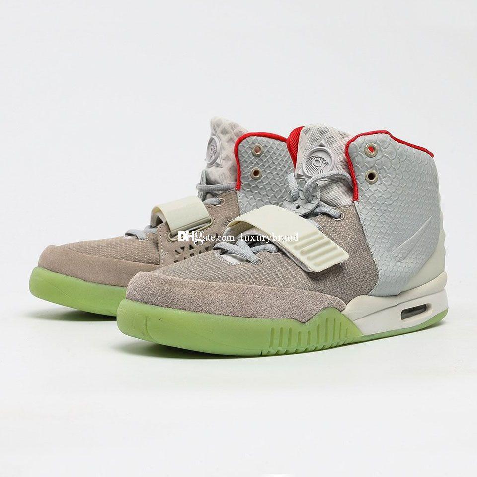 Kanye West II 2 красный кроссовки для мужчин Kanyewest солнечные кроссовки мужские баскетбольные туфли NRG баскетбол женские освещенные спортивные женские спорт
