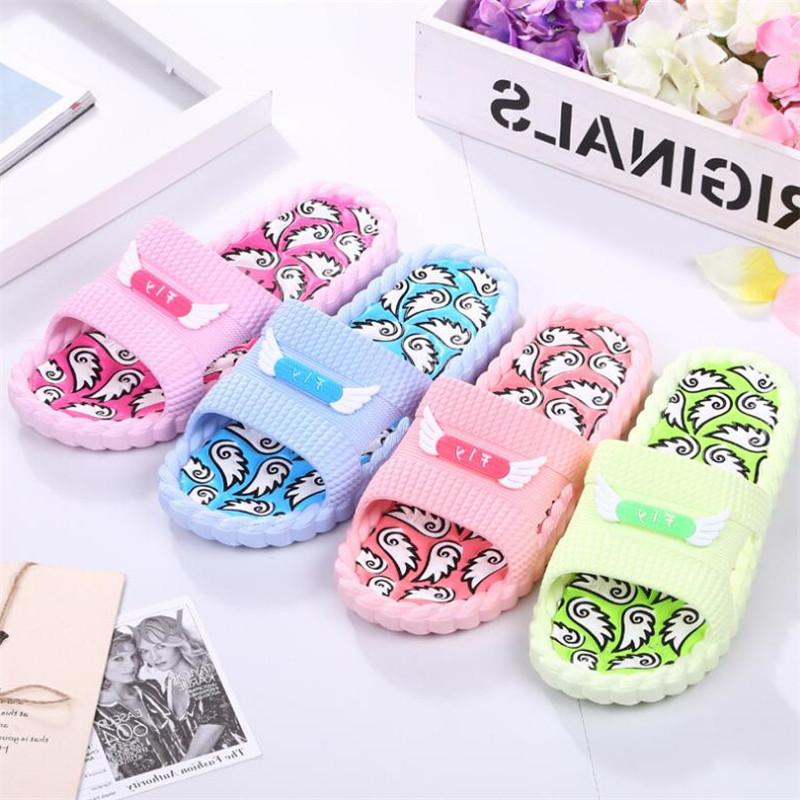 AoXunLong Women Summer Massage Slippers Fashion Totem Home Slippers Women Non-Slip Bathroom Slippers Beach Casual Shoes EU 35-40