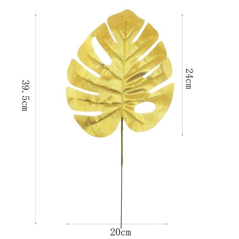 Simülasyon Yaprak Altın Kaplama Düğün Kutlama Bitki Direnç Güz Kaplumbağa Dorsal Yaprakları Popüler Satmak 1 7YY J1