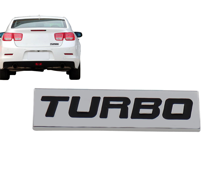 Chrome Negro Turbo para Auto Coche Fender Tronco Tapa Emblema Calcomanía etiqueta etiqueta
