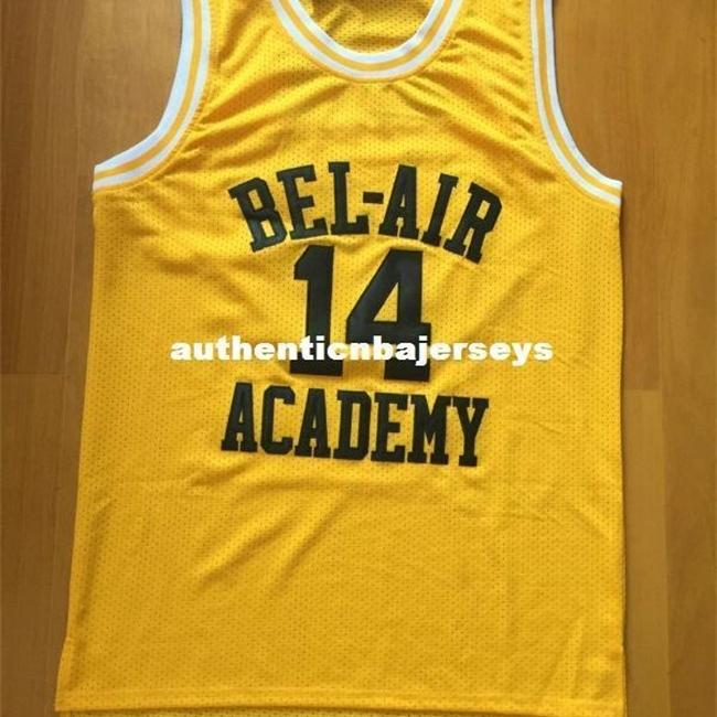 Will Smith Basketball Jersey, 14 Will Smith Fresh Prince Jersey, Bel Air Academy Jersey, Stitched Bel Air Jersey Yellow S a XXL NCAA COLEGE