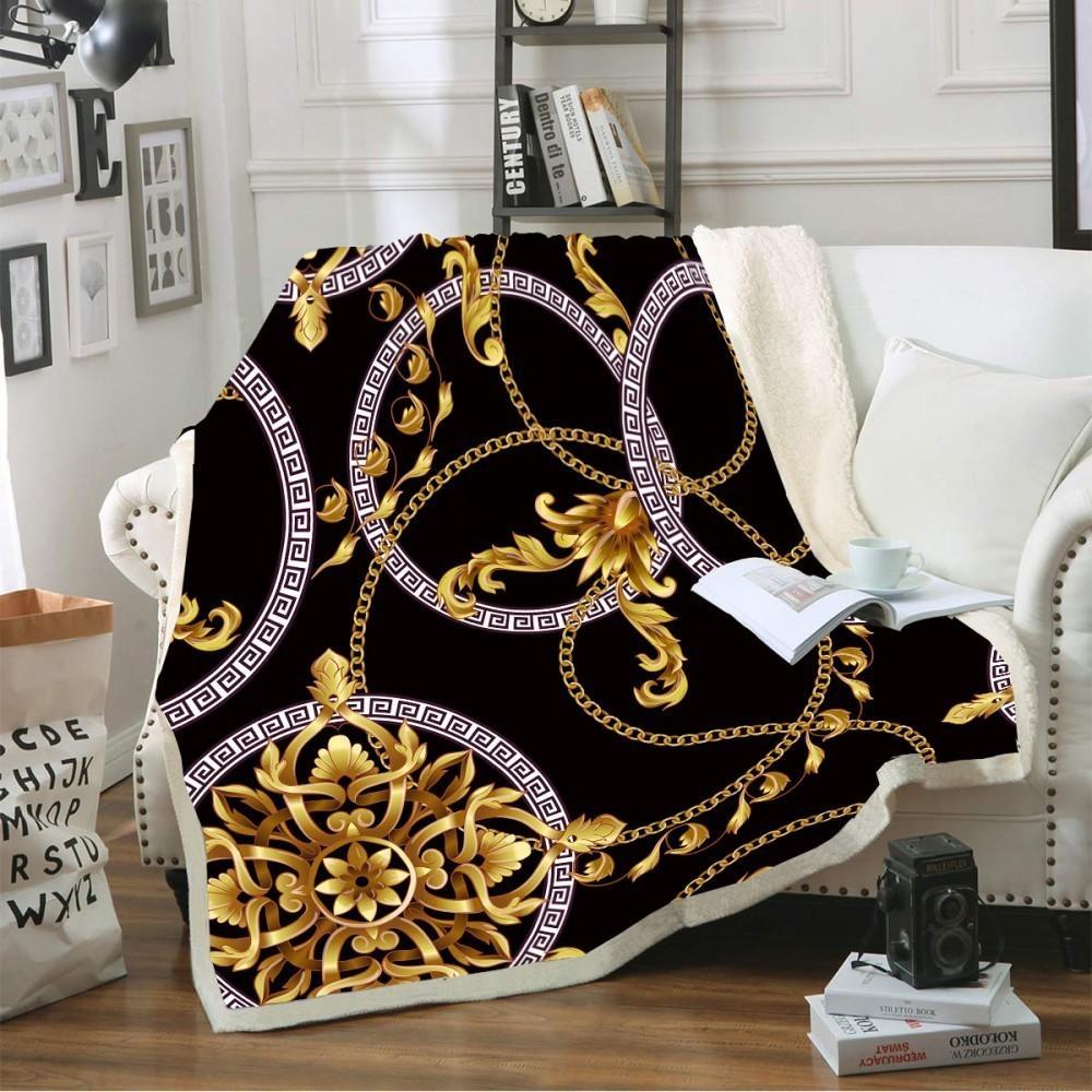 Tirar manta Forma hueca Impresión Estilo Vintage Fleece Soft Fleece Manta para camas Sofá Lamón Colgante Cubierta Hoja de invierno Cubierta Hogar Decoración 201128
