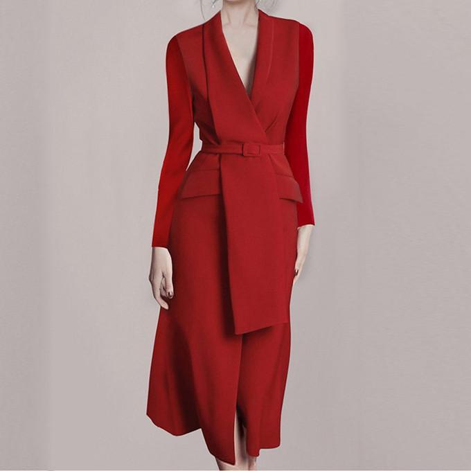 Retro Stilist Kadın Elbiseler Etekler Bayanlar Gece Kulübü Parti Elbise Lüks Hırka Robe Dresse Kadın Kış Mont