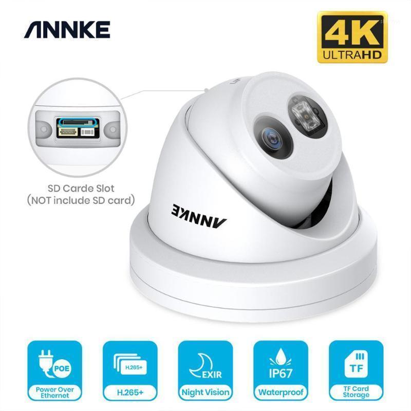Mini Kameralar Annke 1 adet Ultra HD 8MP Poe Kamera 4 K Açık Kapalı Hava Güvenlik Ağ Dome Exir Gece Görüş E-posta Uyarısı CCTV Camer