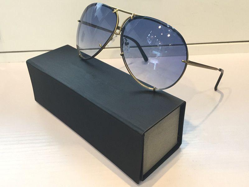 8478 النظارات الشمسية الكلاسيكية مرآة عدسة البيضاوي حماية uv فرملس مع تبادل عدسة إضافية للنساء والرجال أعلى جودة تأتي مع القضية
