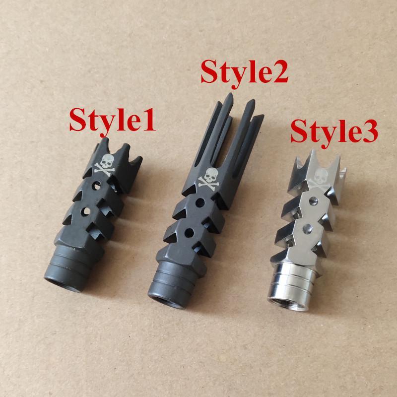 Acciaio inossidabile e acciaio inossidabile .223 .308 Freno di museruola con rondella di cotta