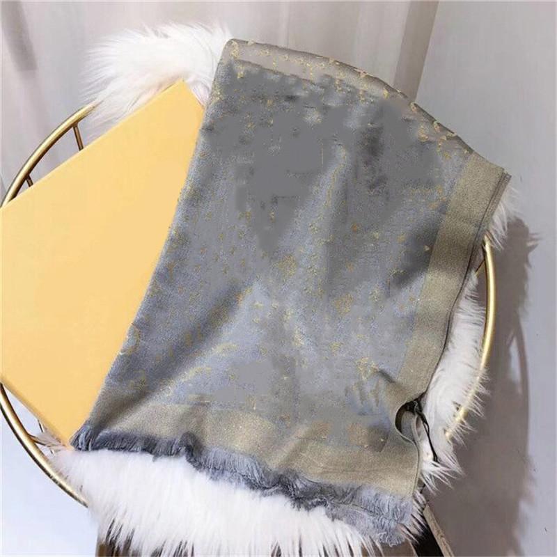 Sciarpa di cotone di marca di alta qualità Sciarpa d'oro brillante sciarpa lunga scialle 180x70cm Etichetta del marchio