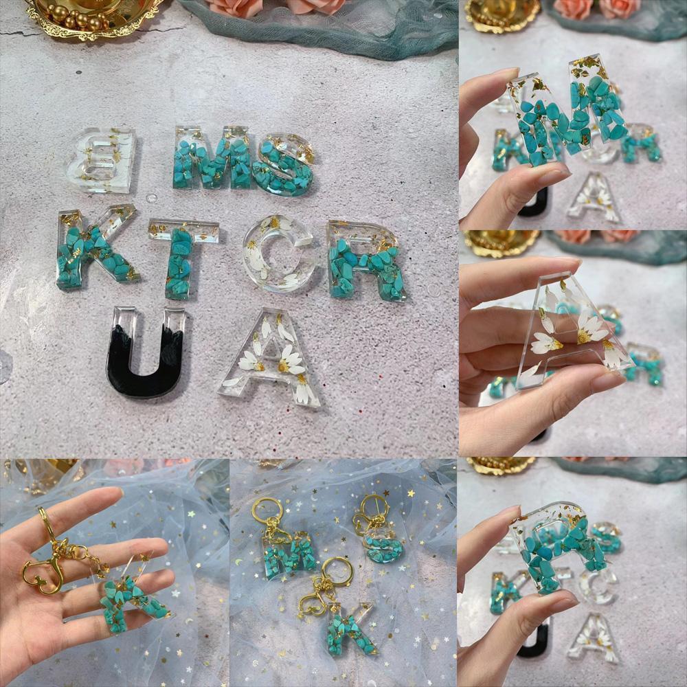 2021 ZB15 Nuovo Alfabeto Inglese Stampi in silicone Lettera Testo Epossidico Resina Casting Stampo per Gioielli FAI DA TE Fare risultati Forniture Art Forniture per componenti