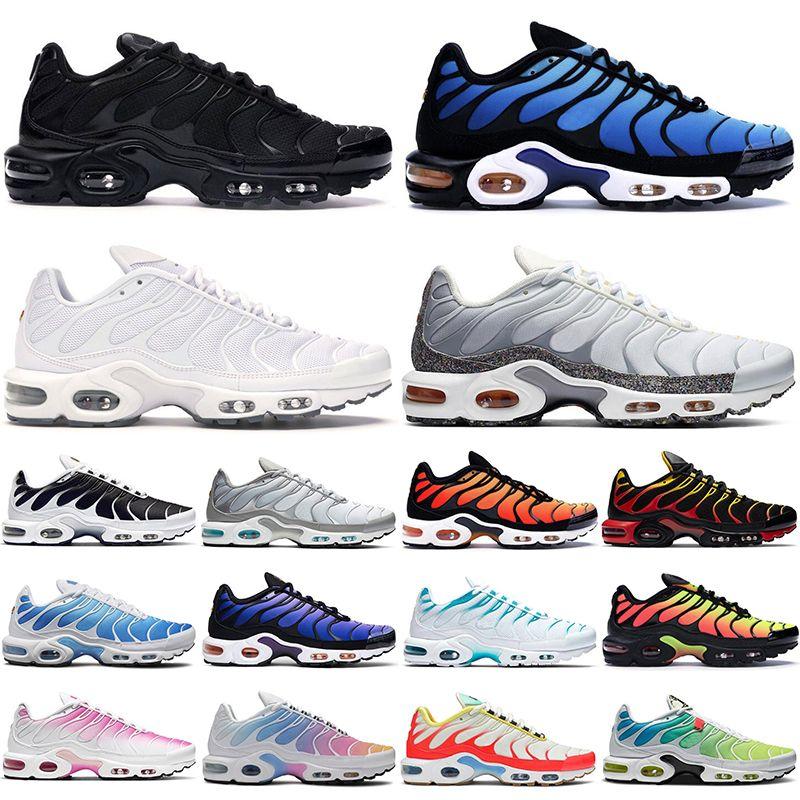 2021 TN mais homens mulheres correndo sapatos treinadores triplo preto branco hyper azul pimento oreo rosa fade homens esportes ao ar livre sneakers
