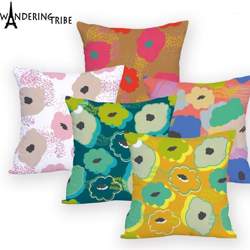 Обложка геометрии подушки для диван-стул декоративные фото подушки чехлы подушки для подушки прямоугольника для дивана для дивана напечатаны1