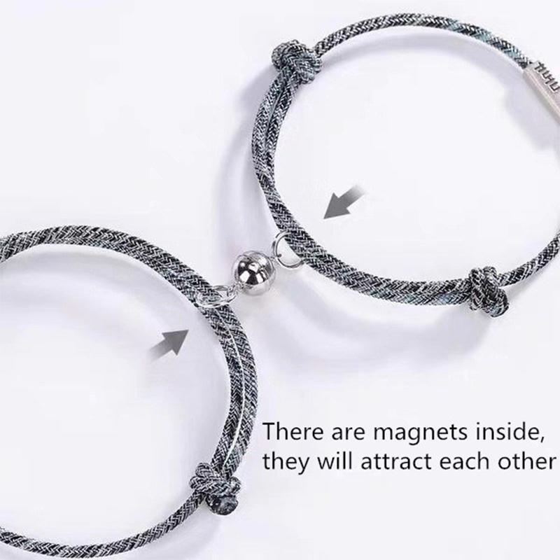 20202Pcs Couple Bracelet for Women Love Friendship Rope Braided Magnetic Bracelets Paired Jewelry Lover Men Bracelet Dropshippin