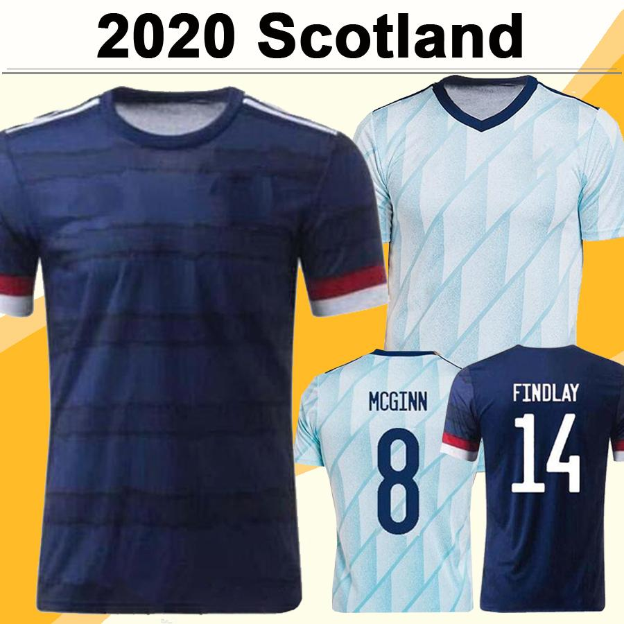 2020 McGREGOR GRIFFITHS ROBERTSON Mens Soccer Jerseys Scotland National Team SHANKLAND FINDLAY McGINN Home Away Football Shirts Uniforms