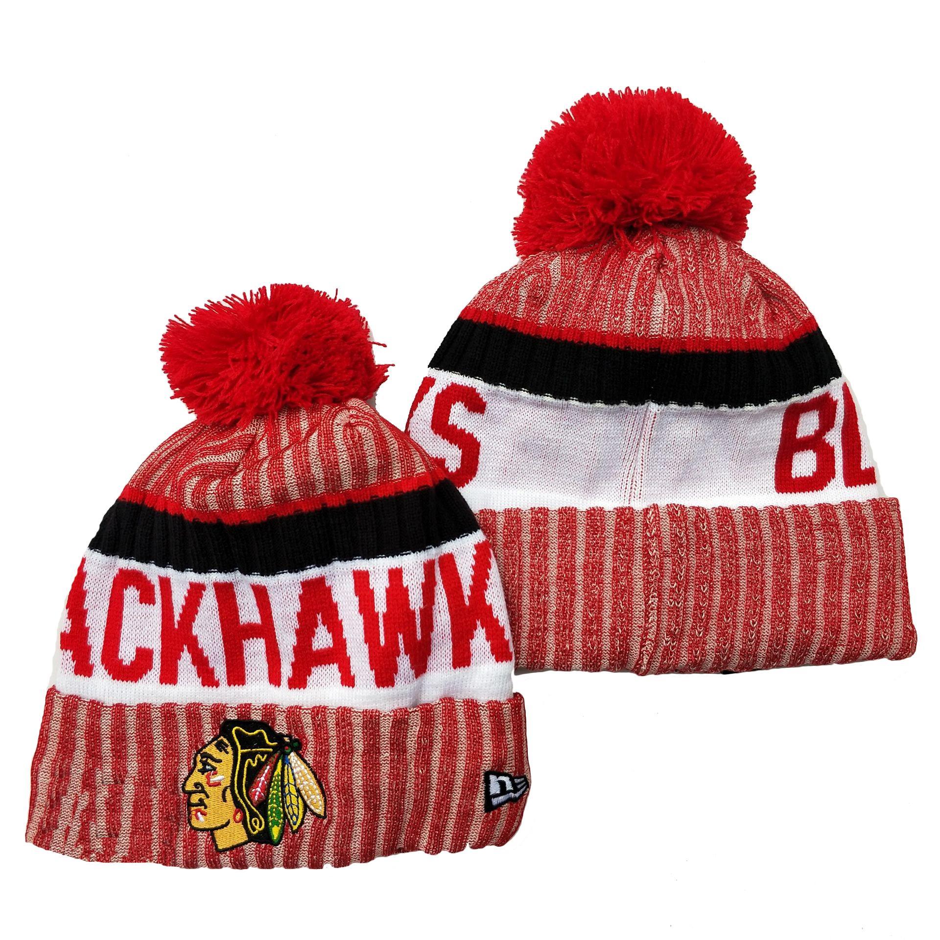 Gorros gorros Chicago Blackhawkks Hockey sobre hielo Gorros de punto Nashville Predators Bordado Sombreros cosidos One Tamaño Top Calidad