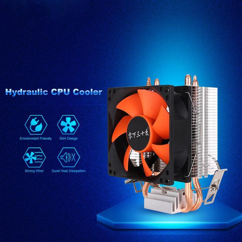 CPU hidráulico CPU refrigerador de calor de los ventiladores de reemplazo de radiador de disipador de calor silencioso para Intel Core AMD Semppron Plataforma