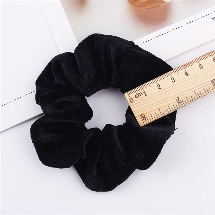 Accesorios 30 unids Tie CHIRY Scrunchies Velvet Ponytail Titular Scrunchy Bands Velor Hair Loop Pleuche Headwear FJK65S