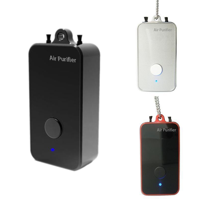 Portátil mini purificador de ar pescoço pendurado USB recarregável purificador de ar pessoal purificador de ar para remover poeira