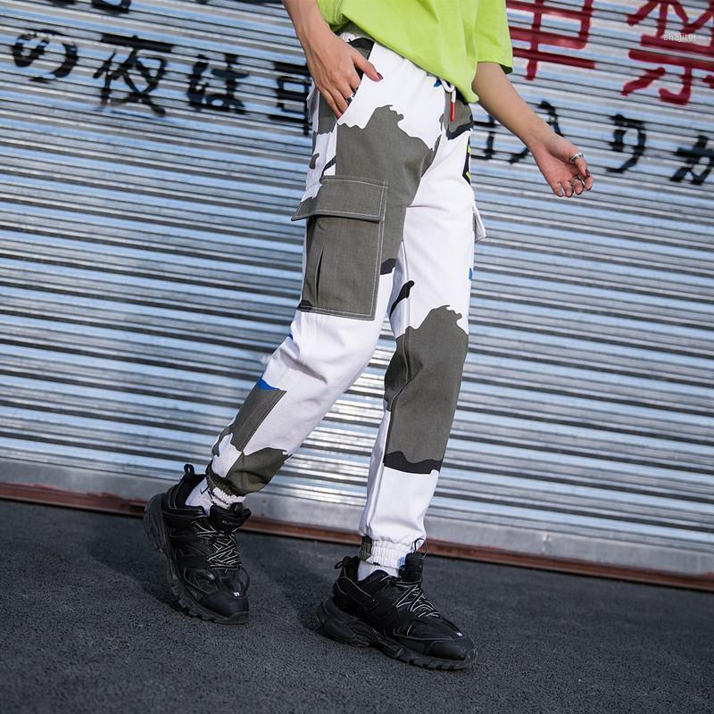Горячие Большие карманы Грузовые брюки Женщины Высокая талия Свободная уличная Улица Брюки Брудники Тактический брюк Хип-хоп Высокое Качество Joggers1