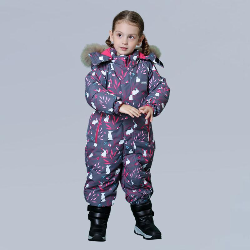 Yenidoğan Bebek Kız Kış 2020 Romper Snowsuit Pamuk Çiçek Desen Fermuar Kapüşonlu Bebek Palto Çocuk Kar Giyim Tulum Ile