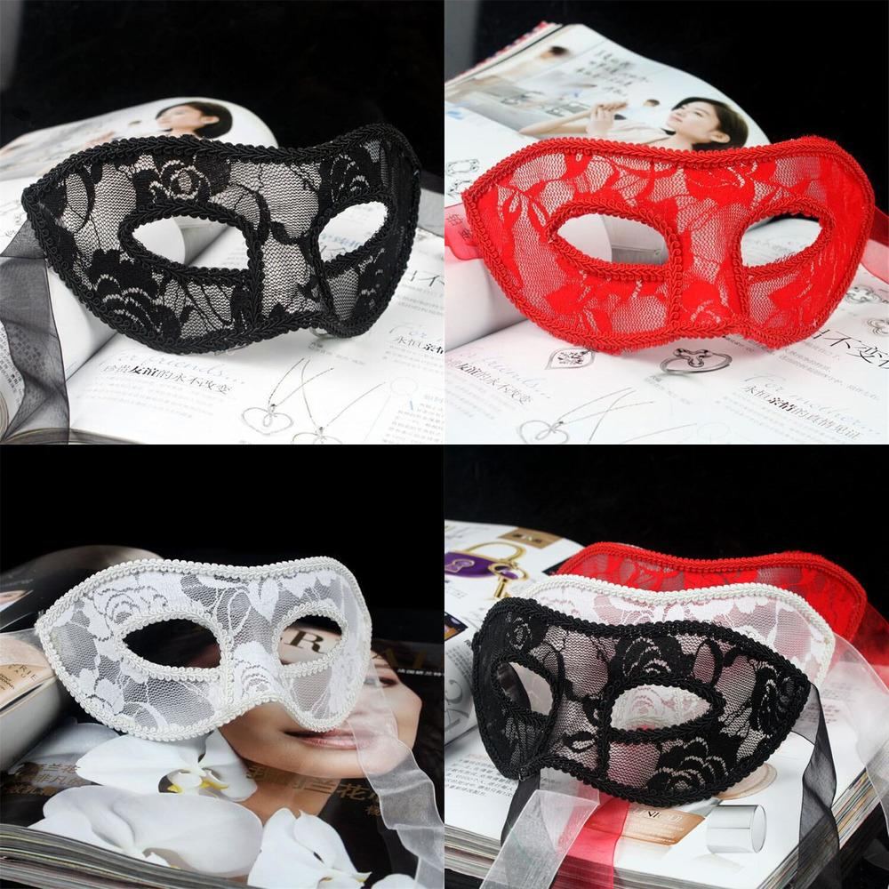 Party Black Red White Mask Women Sexy Lace Eye Masks For Masquerade Halloween Venetian MC1