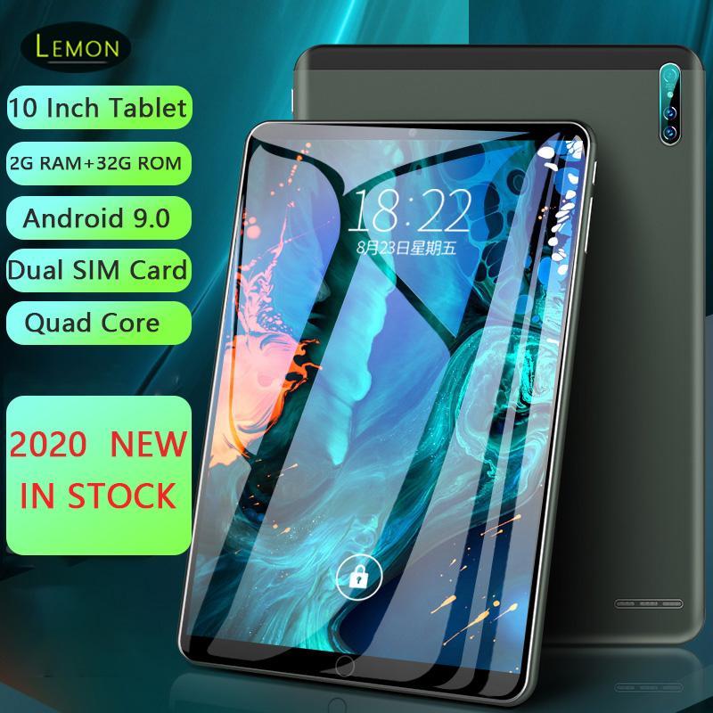 2020 Nouvelle carte Dual SIM de 10 pouces Tablet PC 2GB RAM 32GB ROM Android 9.0 WiFi 3G Réseau Smart Tablet Bluetooth 1280 * 800 IPS LCD
