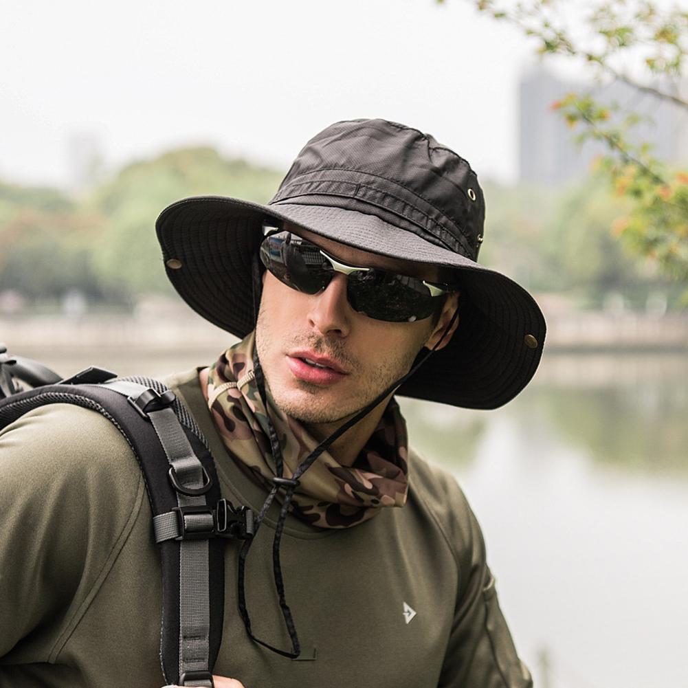 Männer Sommer Spring Eimer Großer breiter Krempe Angeln Hüte Für Männer Frauen Wandern Sombrero Gorro Männlich Sonnenhut