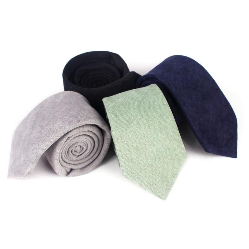 Вырека галстуки человека галстук желтый повседневный хлопок черный для свадебных галстуков тонкий рубашка аксессуары Corbatas Gravatas Para