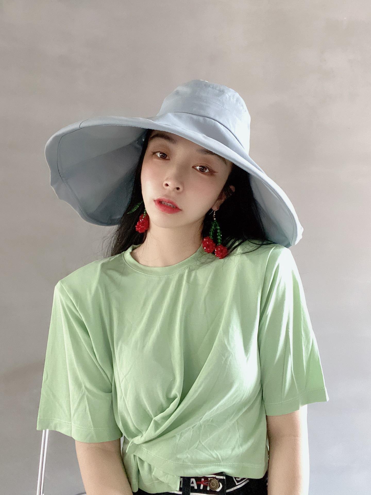 Japon güneşe dayanıklı açık balıkçı şapkası kadınlar için yaz klwe