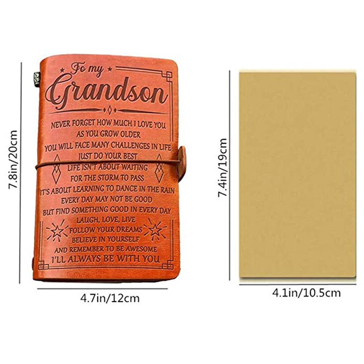 Notebook a mano antico, blocco note in pelle retrò Blocco note, semplice Blocco note da regalo