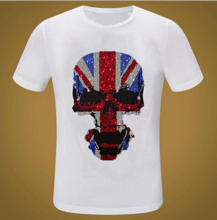Brand Streetwear Ganbu Diamonds летний хип-хоп Свободная футболка мужская мода повседневная черные футболки Tops ZP5F