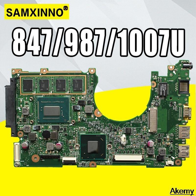 X202E Laptop motherboard REV2.0 For Asus X201E S200E X202E Q200E Test mainboard test 100% ok 2GB RAM 847/987/1007U
