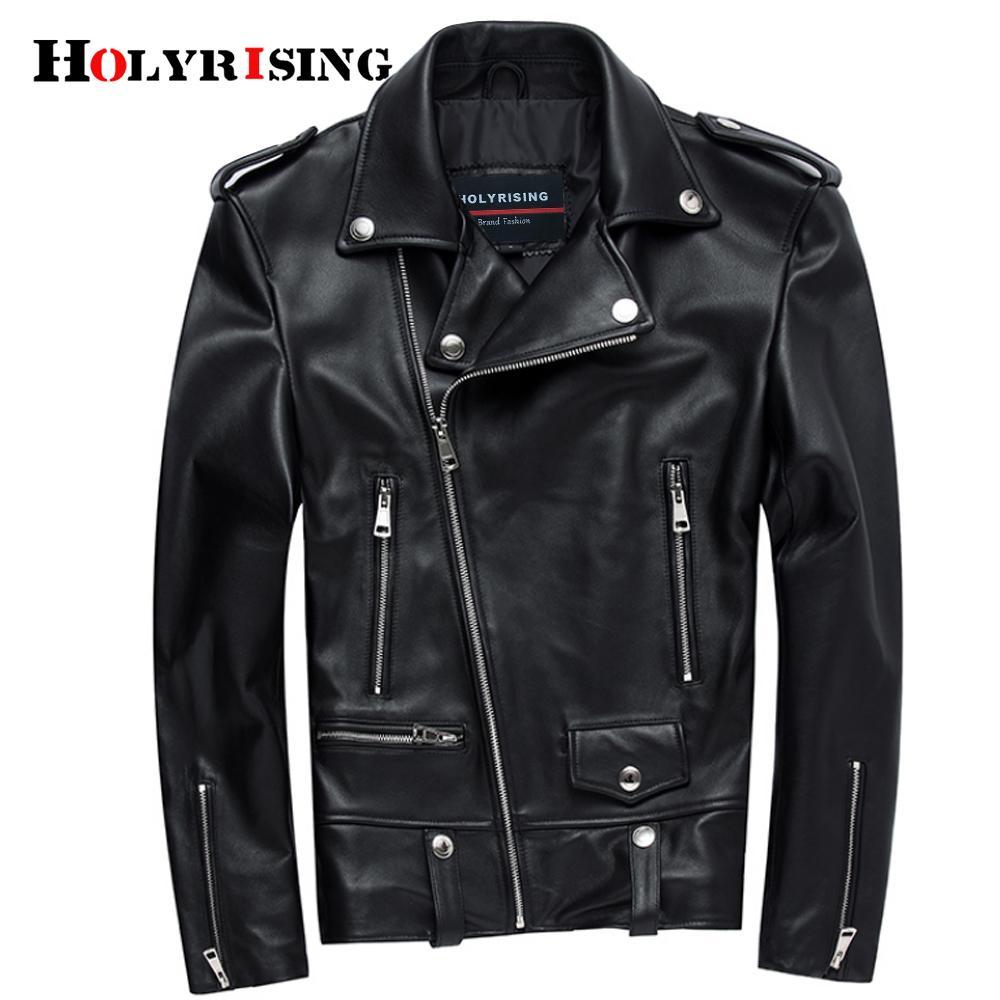 Натуральная кожаная куртка мужчины черный мотоцикл реальные кожаные куртки мужские черные пальто Jaquea de couro lj201029
