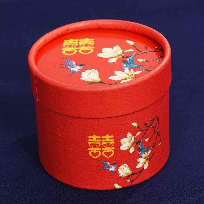 Cinese Cinese Candy Box Cylinder Weddy Candy Box regalo di ricompensa nuziale 7.2 * 6.3cm 2.8 pollici