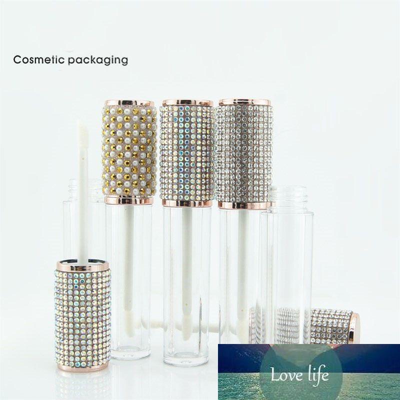 4.5ml de diamant en plastique rond lèvre brillant tubes brillants clair vides lèvre vides emballage bouteille de lèvres lipgloss lèvres conteneurs conteneurs bouteilles