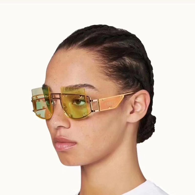 Sexo fantula óculos de sol mulheres 2020 UV400 de Alta Qualidade Rihanna Moda Oversized Steampunk Sun Óculos Quay Oculos de Sol Feminino J1211