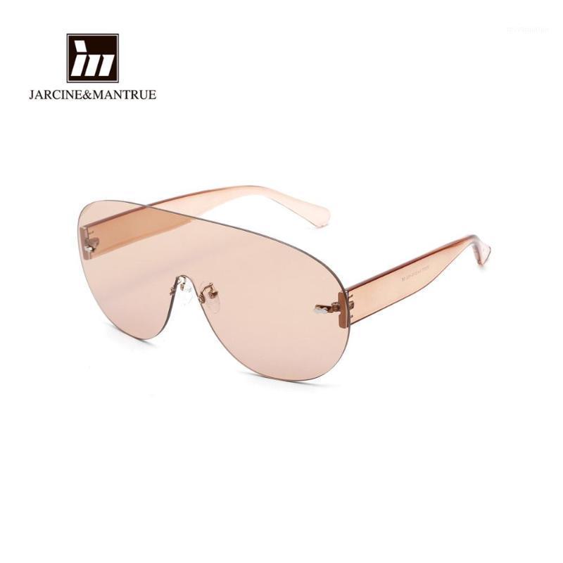 Безрамные одноклассные круглые солнцезащитные очки мужчины негабаритные рамки солнцезащитные очки1