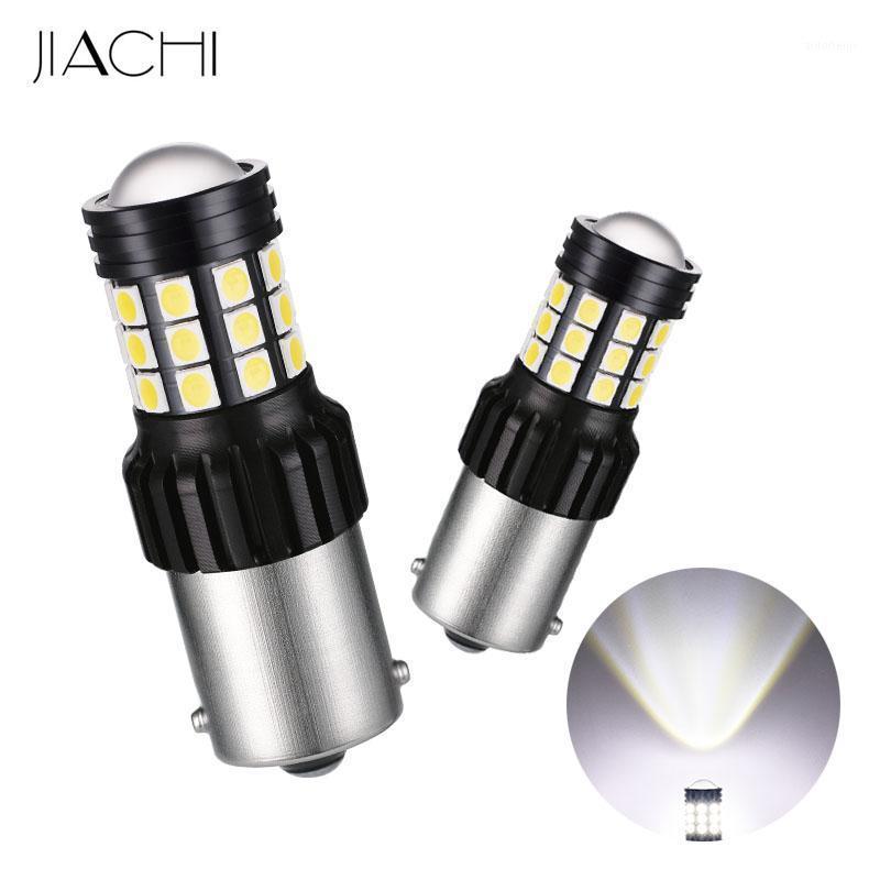 Jiachi 100 PCS 1156 Wholesale Coche blanco LED Bulbos P21W BAY15D 2835 SMD 31 LEDS AUTO Gire la señal Luces de la señal del automóvil DC 12-24v1