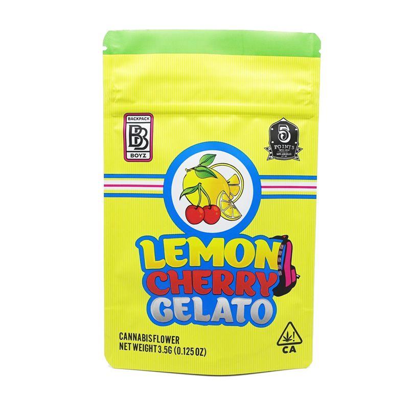 3Of Arrivée 3.5g Mylar Sacs Citron Cherry Gelato Sac à dos Boyz Blanc Blanc Black Gelato Sac Sacs 420 Emballage de fleur d'herbe sèche