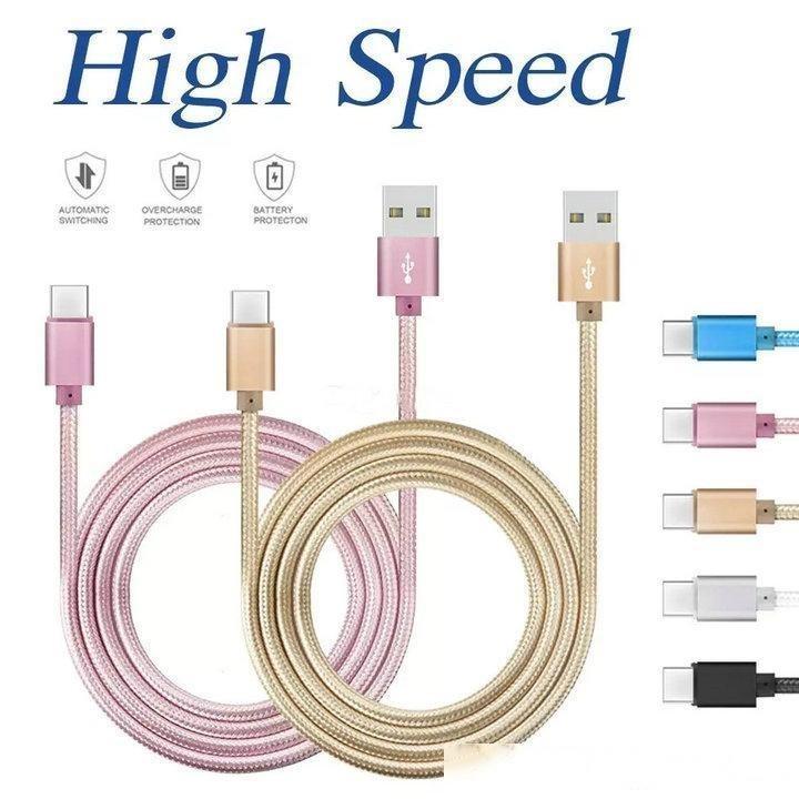Highgeschwindigkeit 1m 2m Metallgehäuse Geflochtene Typ C Micro USB-Kabel Durable Ladegerät für Android-Handy Samsung S9 S8 S7 Huawei 8 7 6