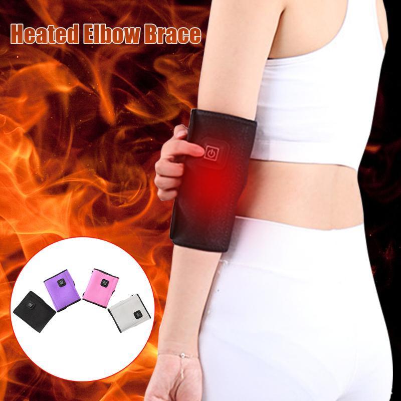 الكهربائية ساخنة الكوع هدفين 3 مستوى درجة الحرارة تخفيف آلام التواء التهاب الأوتار USB قابلة للشحن التهاب المفاصل التهاب المفاصل الذراع