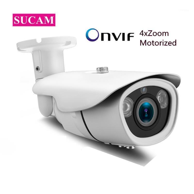 Câmeras 4MP IP Security CCTV Câmera 4x Zoom 2.8-12mm Lente motorizada Detecção de movimento impermeável Onvif Outdoor1