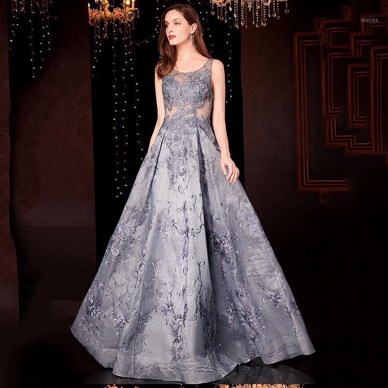 Сексуальная иллюзия вечерние платья без рукавов вечерние вечерние платья реальная фотография Vestido de Festa1