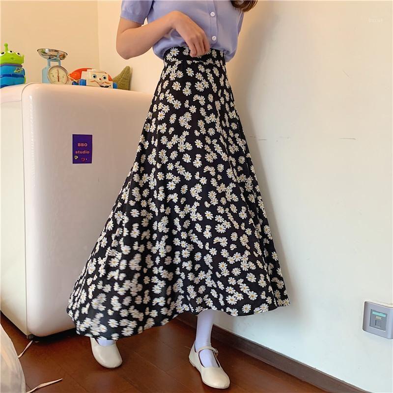 Sommer neues koreanisches Kleid Little Daisy Rock Frauen Hohe Taille Blumenrock Students1