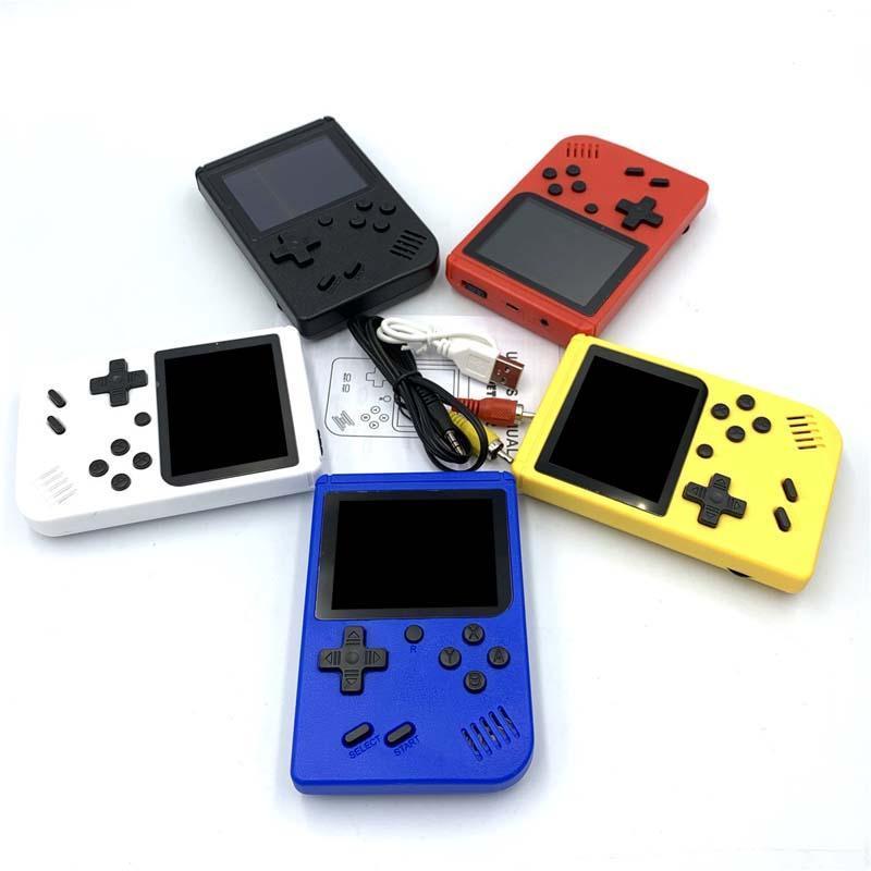 미니 핸드 헬드 게임 콘솔 레트로 휴대용 AV 비디오 게임 포켓 콘솔은 1 8 비트 3.0 인치 다채로운 LCD 크래들 디자인에 400 게임을 저장할 수 있습니다.