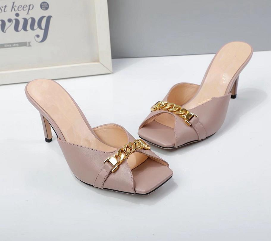 GUCCI Sandálias femininas High Heel Designers Crie Sandálias Casuais de Alta Qualidade Casual Beach disponíveis em uma variedade de cores 3hj
