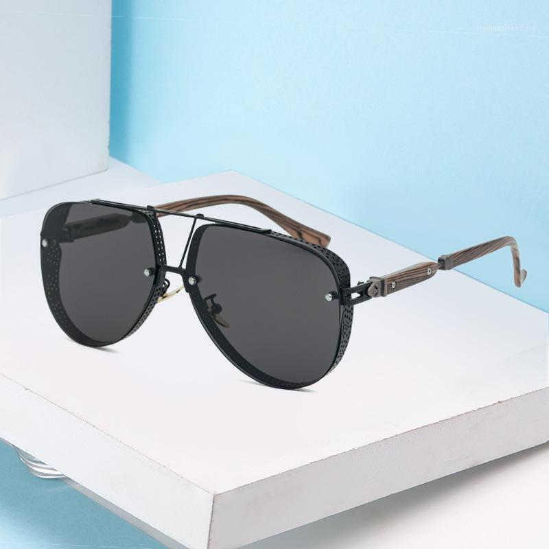 Lunettes de soleil 2021 Steampunk Men et Femmes De La marque Designer Trend Retro Luxe de haute qualité de haute qualité Glasses personnalisées1