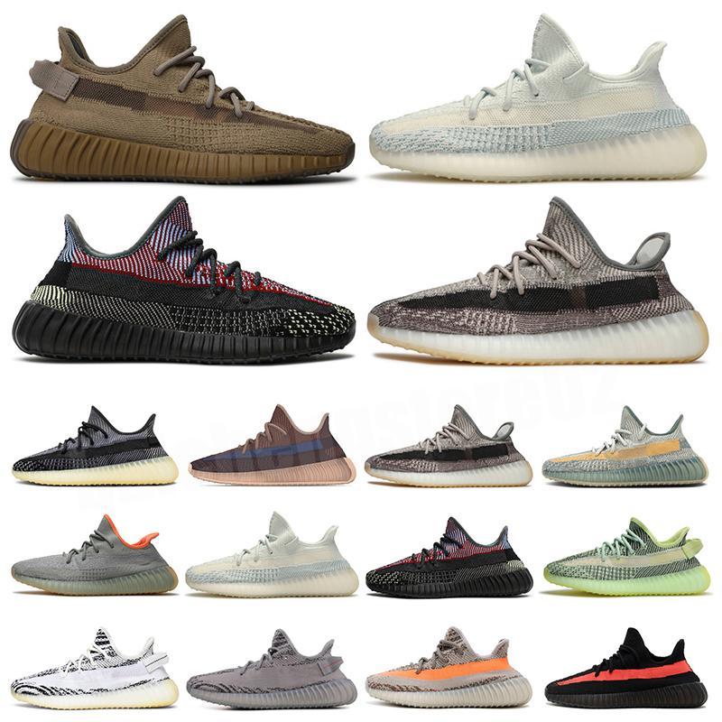 Kanye Koşu Ayakkabıları En Kaliteli Israfil Abez Cinder Kuyruk Işık Dünya Asriel Oreo Statik Yansıtıcı Mens Bayan Eğitmenler Sneakers B-129